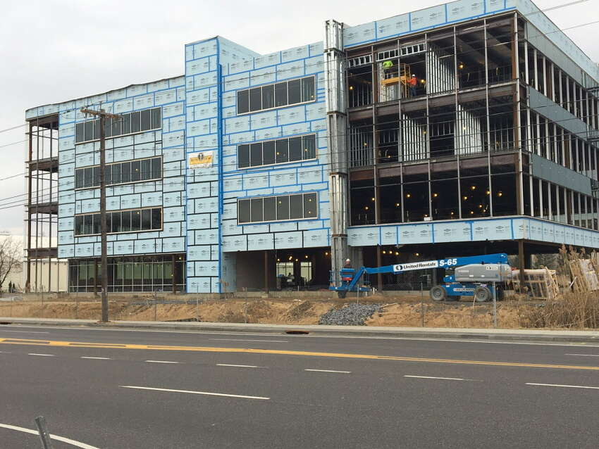 Pioneer Bank's new headquarters under construction on Albany Shaker Road in Colonie.