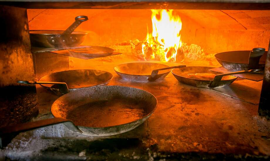 The wood-fired oven at Molina in Mill Valley. Photo: John Storey, Special To The Chronicle