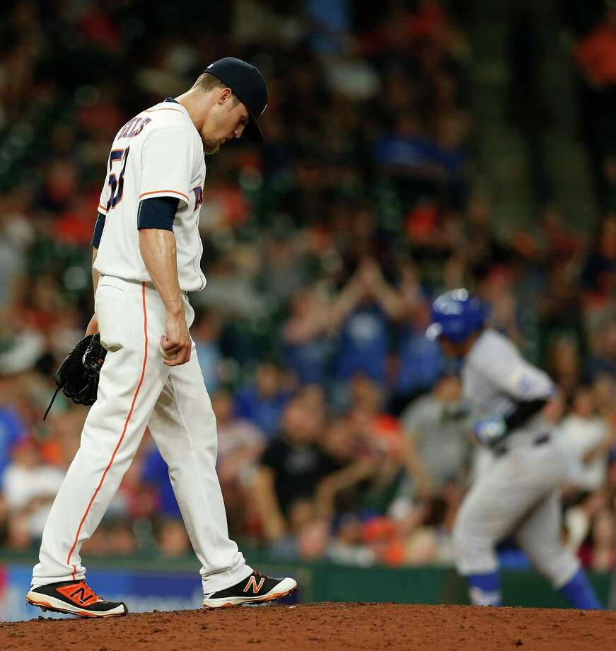 Ken Giles has struggled so far since being acquired by the Astros in a blockbuster offseason traded from Philadelphia. Photo: Karen Warren, Staff / © 2016 Houston Chronicle