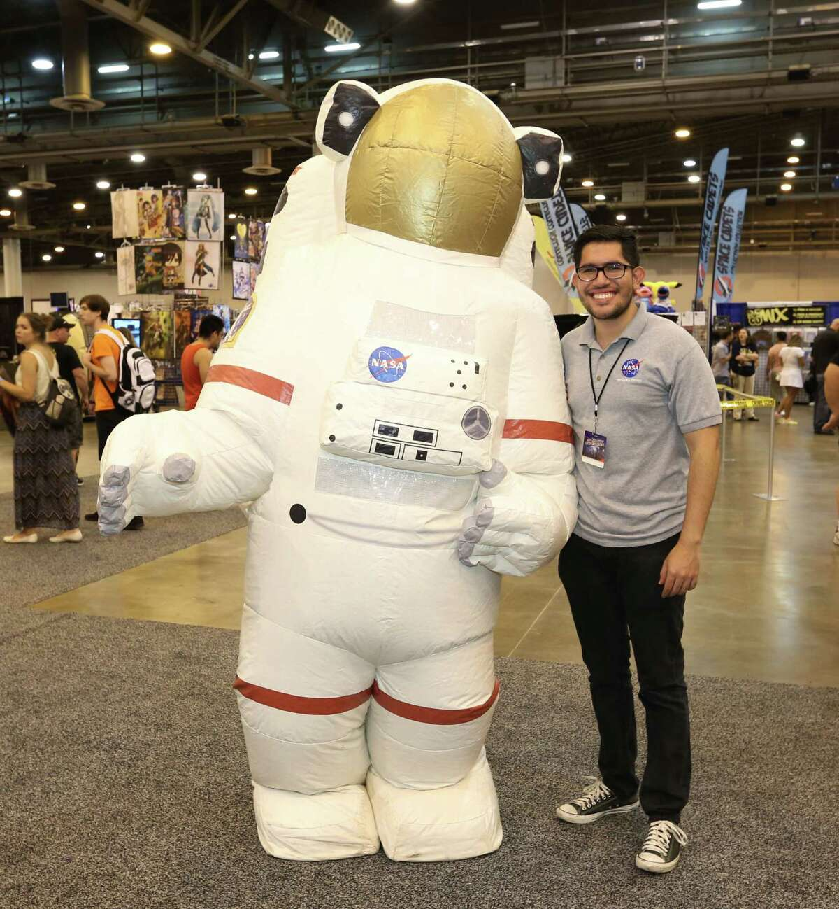 Fans pose for a photo at Space City Comic Con at NRG Center last year. The event takes place over the Memorial Day weekend.