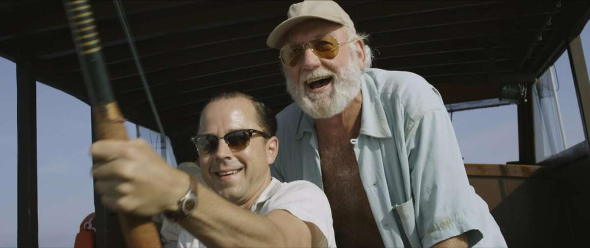 Giovanni Ribisi (left) plays a newspaper reporter and Adrian Sparks is a convincing Ernest Hemingway in