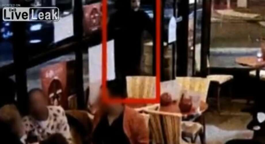 French television has broadcast what it says is a video taken from inside the Paris restaurant where jihadi Brahim Abdeslam blew himself up on Nov. 13, killing himself and wounding several others. Photo: Guerrero, Salvador D, Courtesy Of France's M6 / Liveleak.com