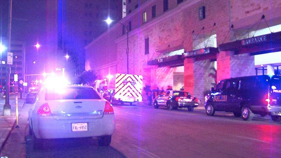 Police say a woman was stabbed Tuesday morning as she slept on a bench downtown. Photo: 21 Pro Video