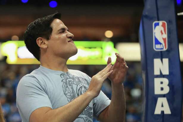 DALLAS, TX - APRIL 21:  Owner, Mark Cuban before game three of the Western Conference Quarterfinals of the 2016 NBA Playoffs at American Airlines Center on April 21, 2016 in Dallas, Texas.  NOTE TO USER: User expressly acknowledges and agrees that, by downloading and or using this photograph, User is consenting to the terms and conditions of the Getty Images License Agreement.