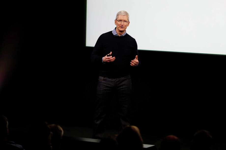 Apple CEO Tim Cook is set to report the company's first decline in revenue on falling iPhone sales when the company reports first-quarter earnings on Tuesday. Photo: Connor Radnovich /The Chronicle / **MANDATORY CREDIT FOR PHOTOG AND SF CHRONICLE/NO SALES/MAGS OUT/TV**
