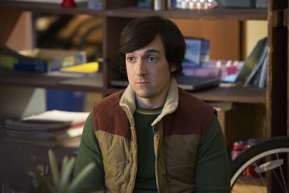 "The vest has become the unofficial uniform for Silicon Valley investors. Josh Brener is seen in a production still from season three of HBO's ""Silicon Valley."" Photo: Hbo"