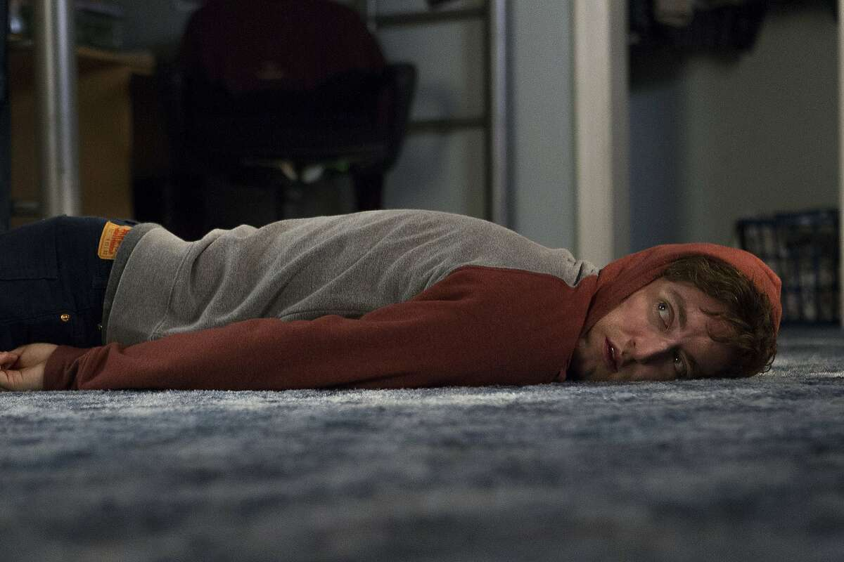 """Thomas Middleditch in a production still from season three of HBO's """"Silicon Valley."""""""
