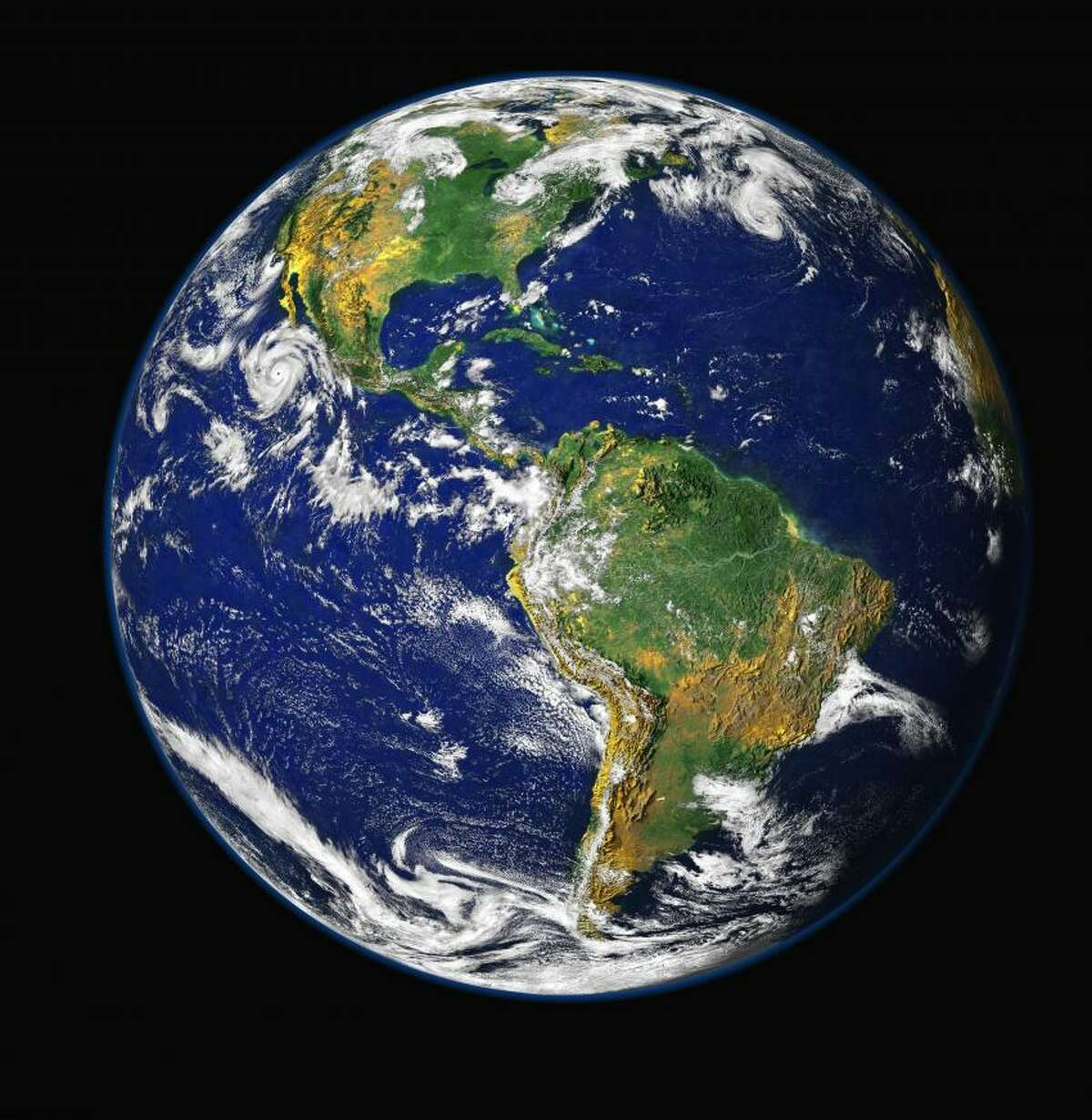 The Earth looking green. Credit: NASA
