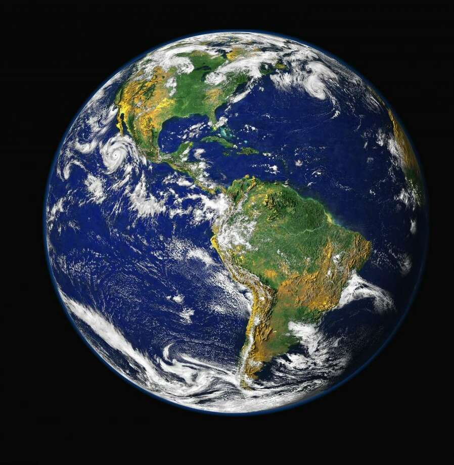 The Earth looking green. Credit: NASA