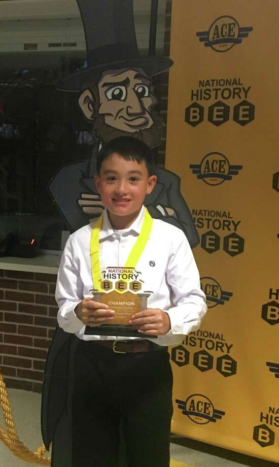 Parkway School fifth-grader Brandon Yu qualified for the national championship of the National History Bee after winning a regional competition April 20 at Middlesex Middle School in Darien. Photo: Contributed Photo