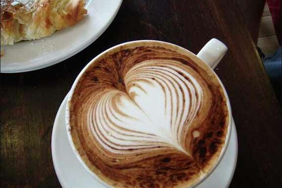 Cappuccino from EQ Heights Coffee and Social House which is among the Houston restaurants participating in Dining Out for Life on April 28, 2016; a percentage of sales that day will be donated to AIDS Foundation Houston.