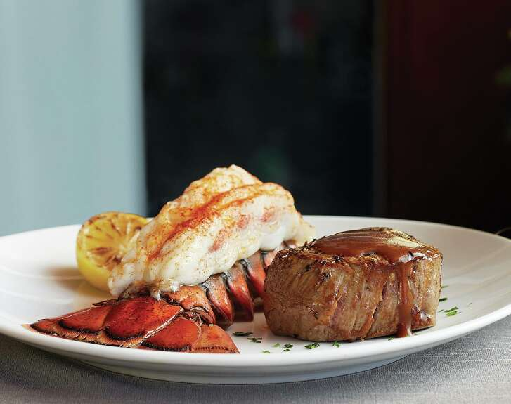 Filet mignon and lobster tail from Fleming's Prime Steakhouse. Fleming's is among the Houston restaurants participating in Dining Out for Life on April 28, 2016; a percentage of sales that day will be donated to AIDS Foundation Houston.