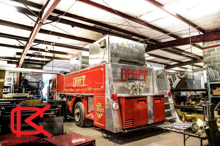The premiere of 'Blue Collar Backers' on Discovery Channel will feature the San Antonio transformation of a vintage fire truck into a fully-loaded beer and food truck. Photo: Courtesy Cameron Davies