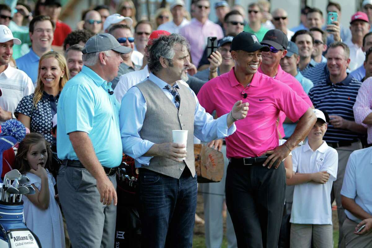 Tiger Woods made his return to the golf course at Bluejack National in Montgomery County, the first designed course of his to open in the United States.