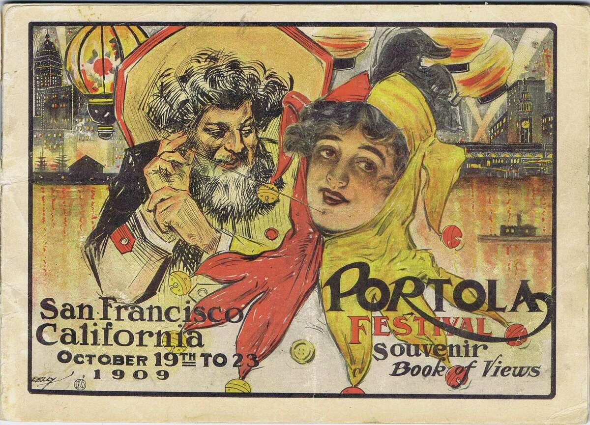 The 1909 San Francisco Portola Festival, was in honor of Don Gaspar de Portola, the discoverer of San Francisco Bay and first Governor of California. It also was a celebration of the city's rise from the ruins of the 1906 earthquake and fire. Souvenir brochure from the collection of Bob Bragman