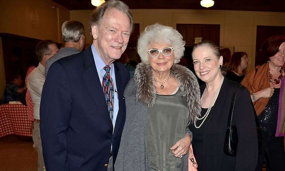 Pat Fury Hart, center, widow of the late KCBS broadcaster Al Hart, with broadcasters Fred LaCosse and Terry Lowry. Photo: Kenny Wardell