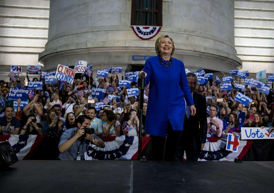 Hillary Clinton, campaigning in Philadelphia, stressed unity in the party rather than bringing down her opponent. Photo: ERIC THAYER, NYT