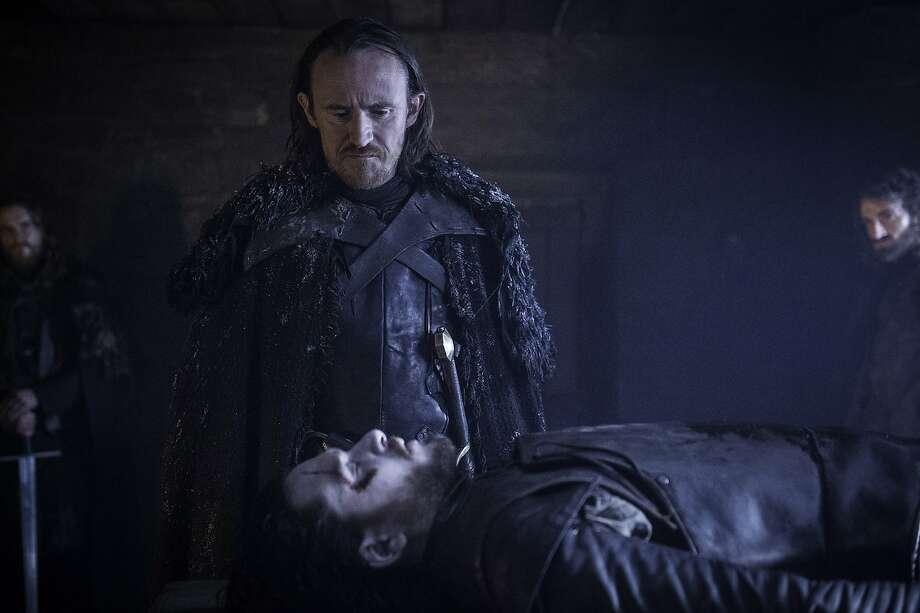 "Ben Crompton and Kit Harington in ""Game of Thrones."" Photo: Helen Sloan, Associated Press"