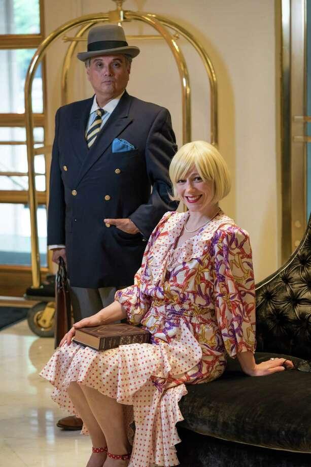 "Greg Hinojosa and Hayley Burnside star in Classic Theater's staging of ""Born Yesterday. Photo: Siggi Ragnar, Courtesy Siggi Ragnar / sRagnar Fotografi"