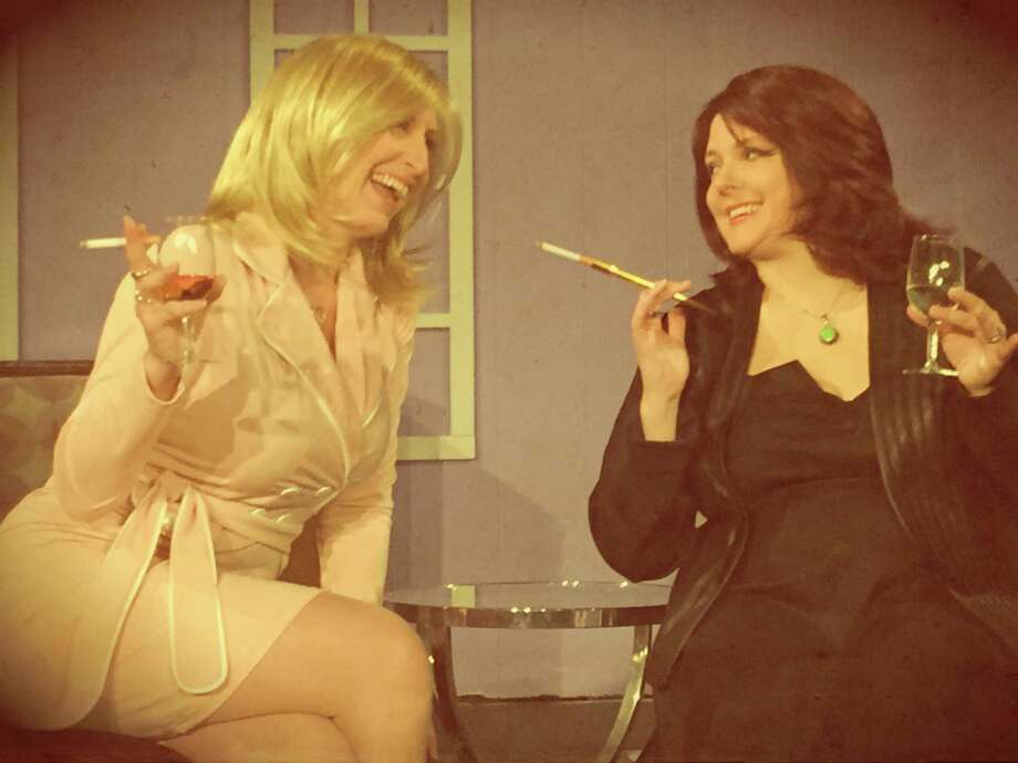 """Nikki Folsom (from left) and Priscilla Craft star in """"The Gingerbread Lady"""" at the Harlequin Dinner Theatre. Photo: Courtesy Photo"""