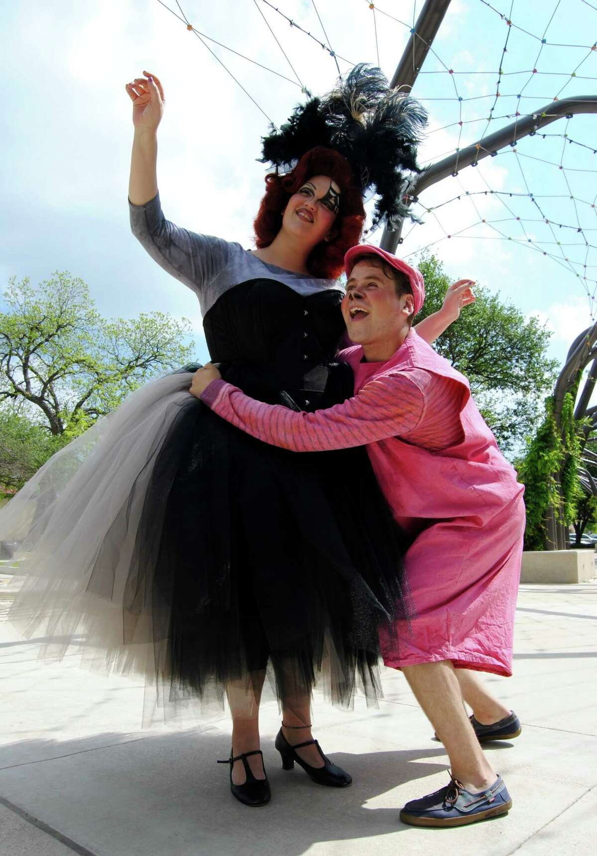 """Ariel Rosen plays Charlotte and Cody Asher plays Wilbur in Magik Theater's staging of """"Charlotte's Web."""""""