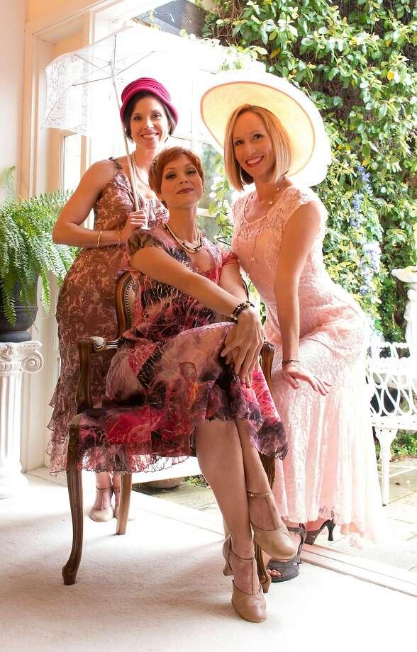 "Amy Franklin Leonards, Rachel Powers and Joy Sherratt in ""April."" Photo: Antonio Gonzalez, Courtesy Pacific Coast Repertory Theatre"