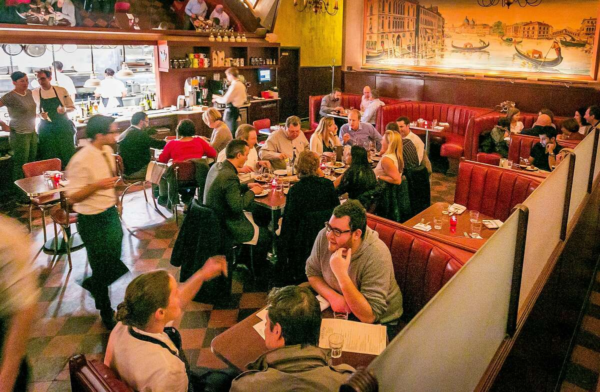 Diners have dinner at Tosca in San Francisco, Calif., on November, 21st, 2013.