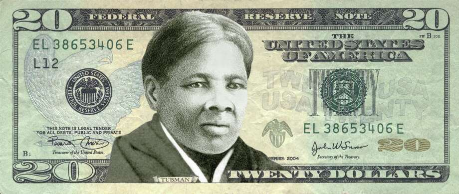 "An image provided by the ""Women On 20's"" organization features  abolitionist Harriet Tubman on the U.S. twenty dollar bill.   Celebrated former US slave Harriet Tubman will replace President Andrew Jackson on the $20 banknote (AFP/Getty Images) Photo: HANDOUT, Stringer / AFP"