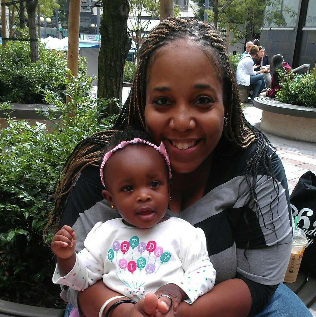 Theresa Cochran and daughter Sarah, pictured in a family photo. Sarah was 2 when she fell from a Seattle apartment window on Aug. 12, 2014, and died.