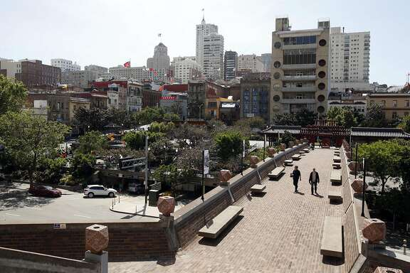 Portsmouth Square in San Francisco, Calif., on Tuesday, April 26, 2016.