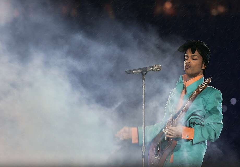 Prince performing during half-time at Super Bowl XLI. Photo: JEFF HAYNES, AFP/Getty Images