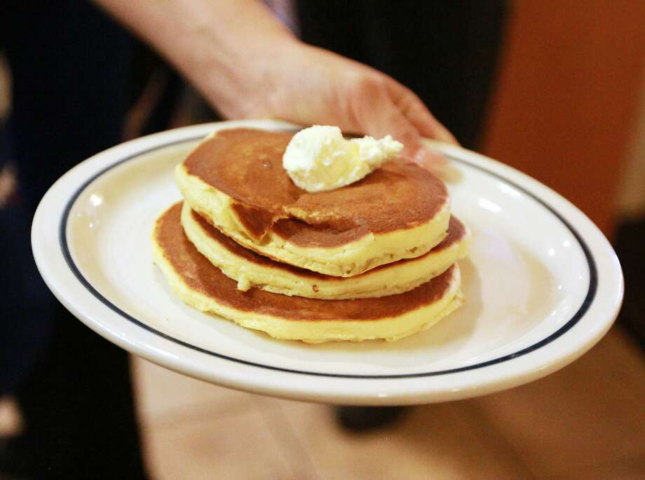 Cheap pancakes are on their way all day Tuesday.>>Click to see the most caloric fast food breakfast items.  Photo: Jacob Ford, AP