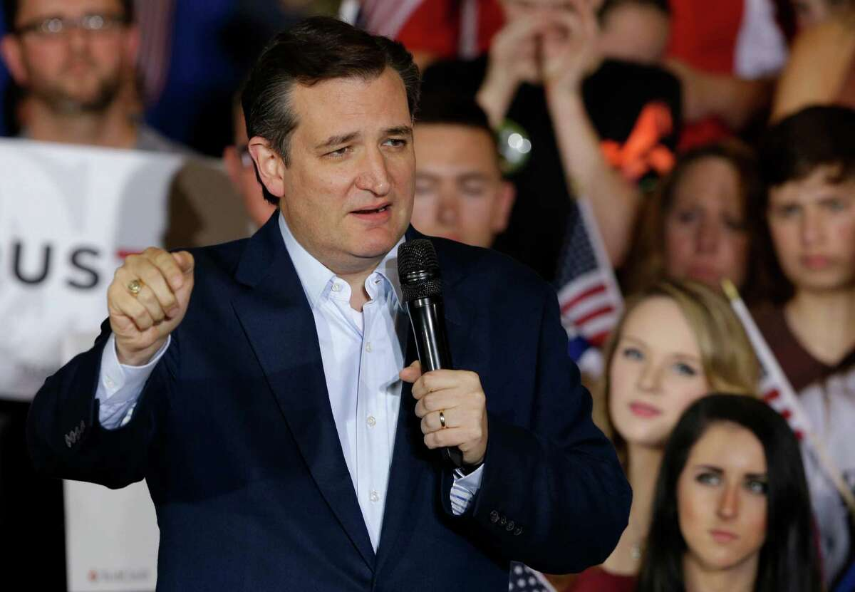 Republican presidential candidate Sen. Ted Cruz, R-Texas, speaks during a rally at the Hoosier Gym in Knightstown, Ind., Tuesday, April 26, 2016.
