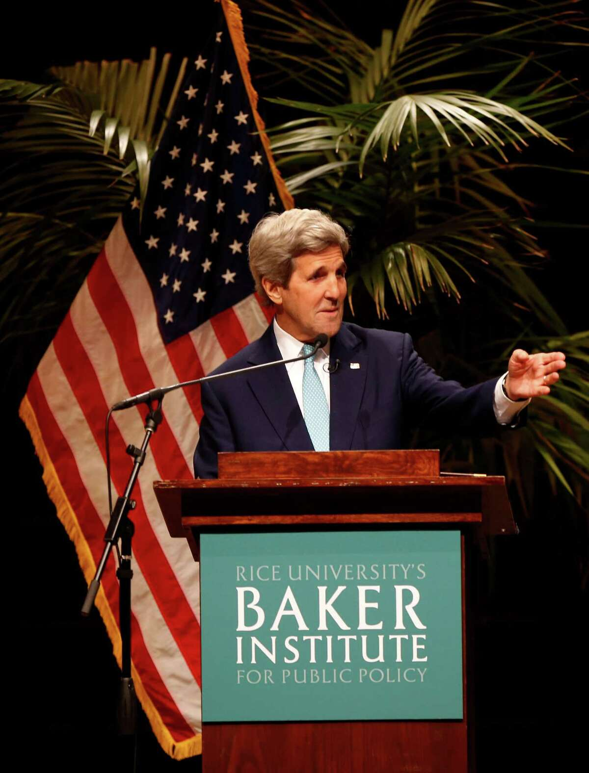 Kerry spoke to about 700 people Tuesday about how dialogue with religious leaders, and followers, helps American diplomacy, from Nigeria to Europe.