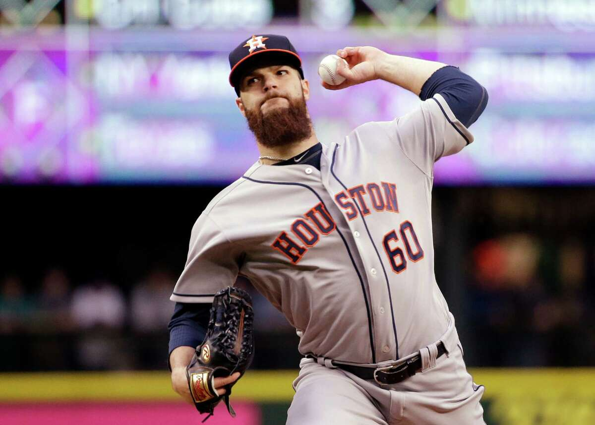 Astros starter Dallas Keuchel was tagged for five runs in six innings in Tuesday's loss at Seattle.