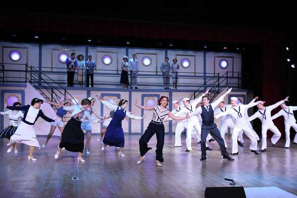 "Noelle Flores, center,  in Stratford's ""Anything Goes""  won best leading actress in the Tommy Tune awards."