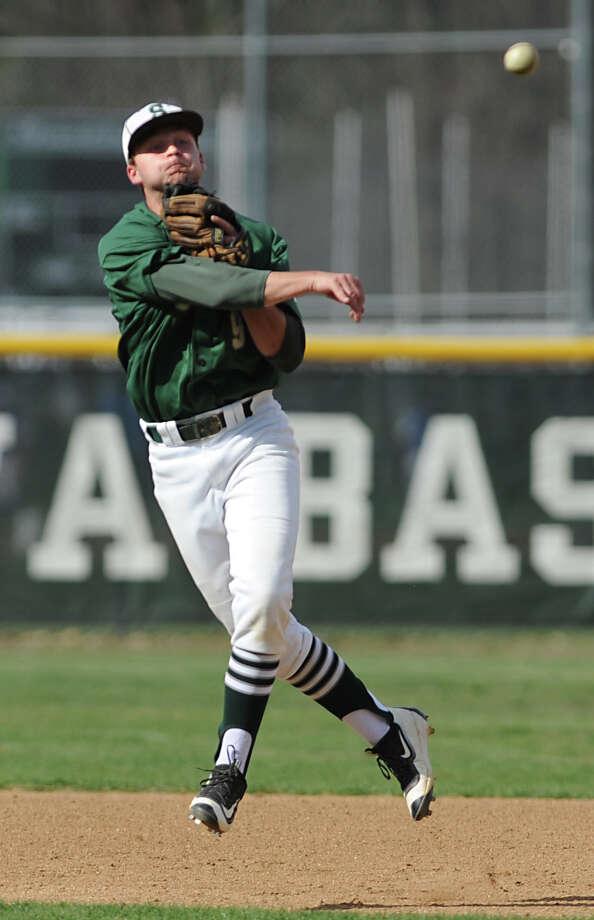 Shenendehowa's Nik Malachowski throws the ball to first during a baseball game against Saratoga on Monday, April 18, 2016 in Clifton Park, N.Y. (Lori Van Buren / Times Union) Photo: Lori Van Buren / 10036231A