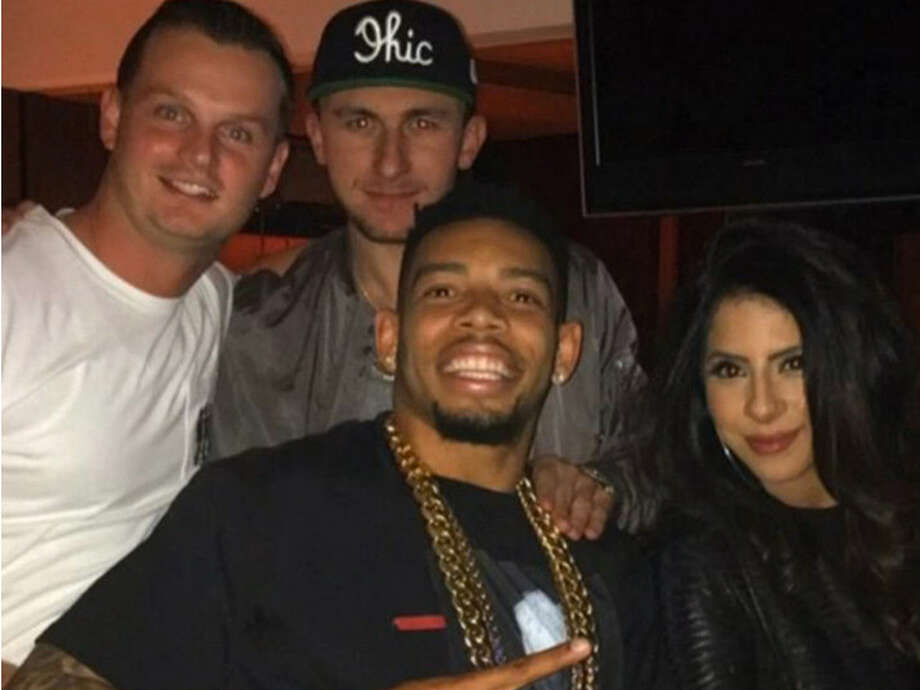 Johnny Manziel attended the Justin Bieber concert in Cleveland on Tuesday night with Cleveland Browns cornerback Joe Haden. Photo: Instagram