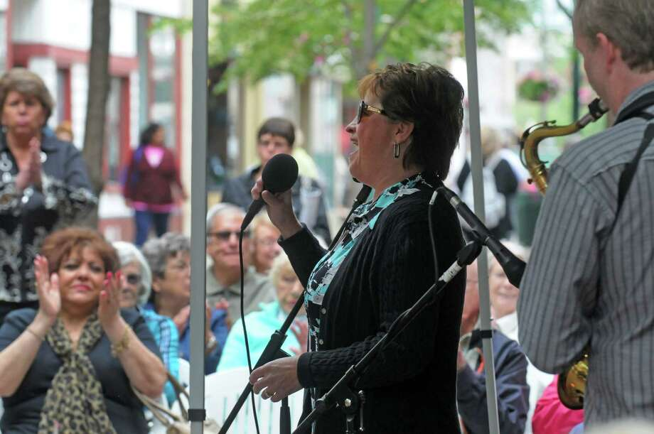 Colleen Pratt  and Friends perform during this year's Jazz on Jay kick off on Thursday June 4, 2015 in Schenectady , N.Y.  (Michael P. Farrell/Times Union) Photo: Michael P. Farrell / 00031778A