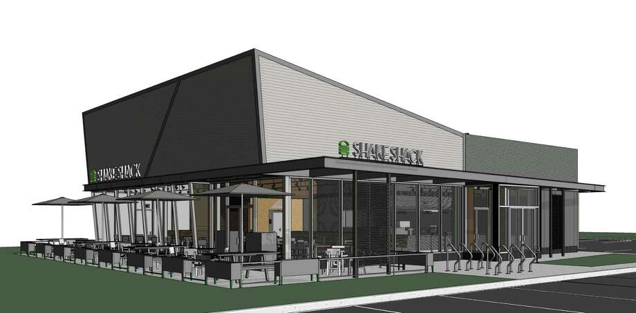 An architectural rendering of the proposed Shake Shack at 1340 Post Road. Photo: Contributed Photo / Darien News