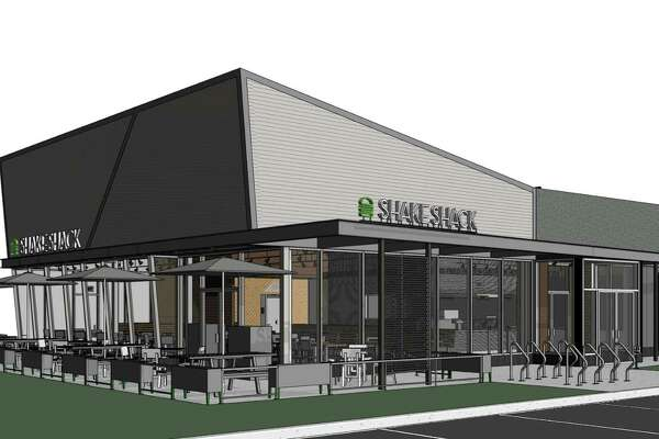An architectural rendering of the proposed Shake Shack at 1340 Post Road.