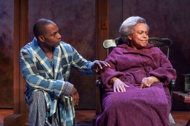 "Kevin Craig West and Barbara N. Howard in ""The Trip to Bountiful"" at Capital Repertory Theatre. (Douglas C. Liebig/Capital Rep)"