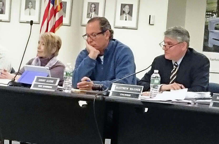 Members of the Town Plan and Zoning Commission listen to neighbors of a proposed assisted living facility at a public hearing Tuesday. Photo: Genevieve Reilly / Hearst Connecticut Media / Fairfield Citizen