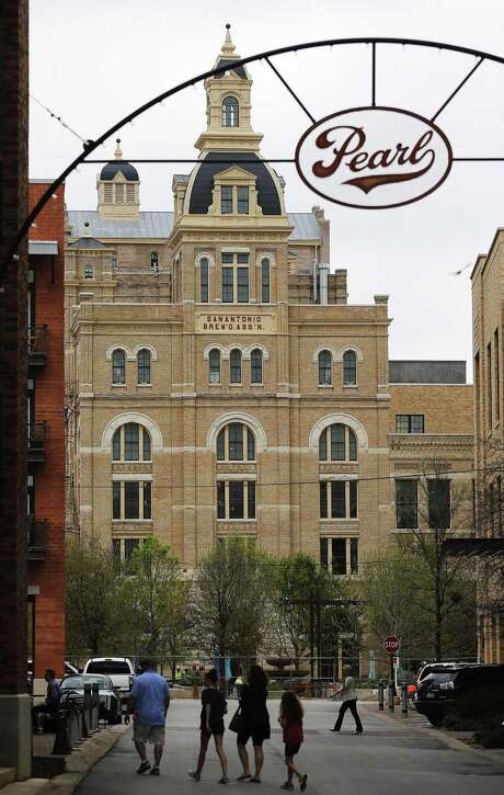View of the former Pearl Brewery brewhouse, or Hotel Emma. Photo: Kin Man Hui /San Antonio Express-News / ©2015 San Antonio Express-News