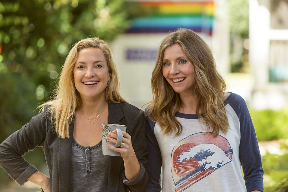 "Kate Hudson and Sarah Chalke in Garry Marshall's ""Mother's Day."" Photo: Ron Batzdorff, Associated Press"