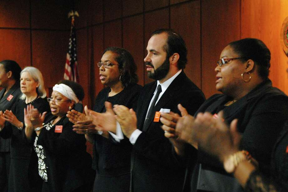 Members of the First Baptist Church Choir performs at the 5th Annual YWCA Stand Against Racism Day in Greenwich in 2015. The 2016 event will take place on April 29 at 10 a.m. Photo: Dru Nadler / Dru Nadler / Stamford Advocate Freelance