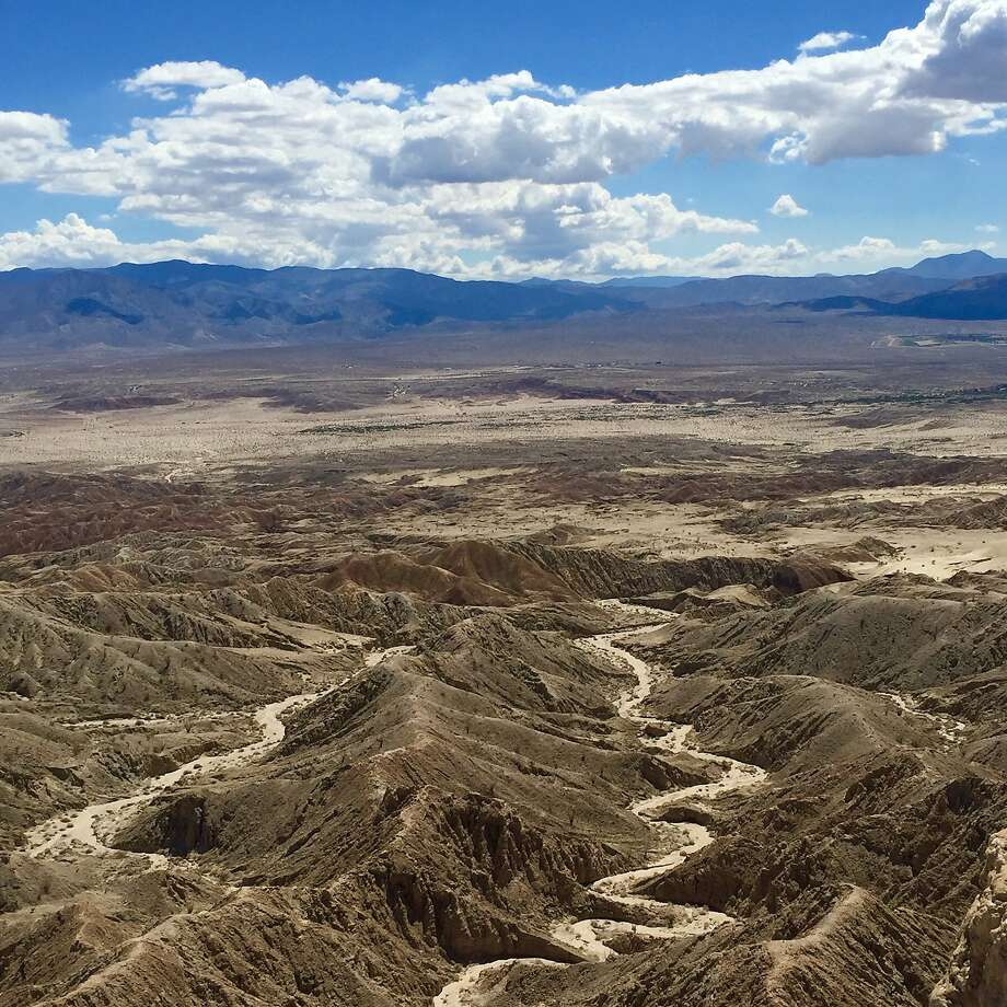 Views from Font's Point include the undulating Borrego Badlands, with its sunken mesas and corrugated hills of dry mud. Photo: Jill K. Robinson, Special To The Chronicle