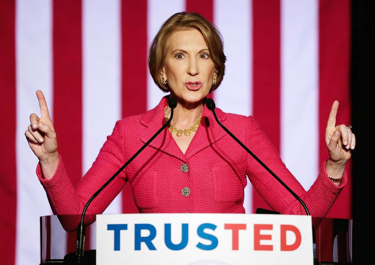 Carly Fiorina speaks at a watch party for Republican presidential candidate Sen. Ted Cruz (R-TX) on March 15, 2016 in Houston, Texas. Cruz is in a tight race with Donald Trump in the Missouri GOP primary, while Trump took Florida, North Carolina, and Illinois. Gov. John Kasich won his home state of Ohio.