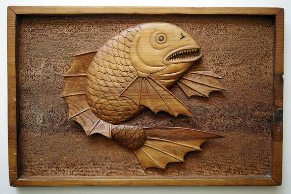 A carving made by Yasuhiro Takano during the time he was interned at Amache, Colorado with his family. Today his children have the carvings that were created by him during those years.