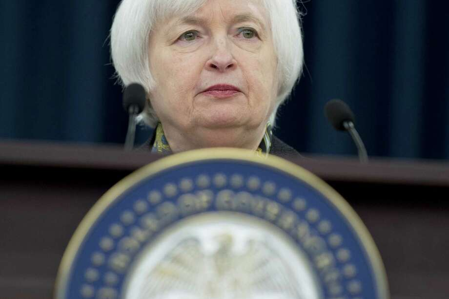 Federal Reserve Chair Janet Yellen speaks during a press conference in Washington, DC in March. The Fed held steady on interest rates after a two-day meeting of its policymaking committee. But it appears on course to increase rates later this year. Photo: SAUL LOEB /AFP /Getty Images / AFP or licensors